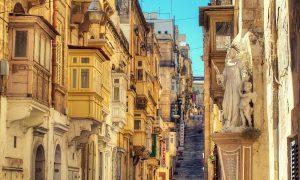 Valettai utcakép