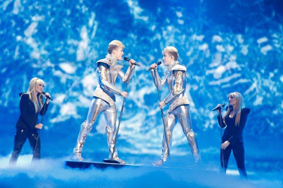 Jedward - twitter.com @EurovisionJr